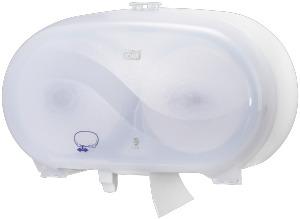 Dispensador de doble rollo de papel higiénico sin mandril de tamaño mediano Tork
