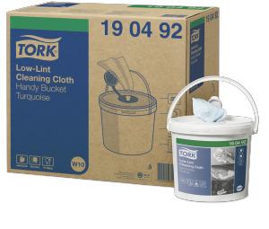 Cubo práctico de paños de limpieza sin pelusas Tork