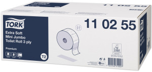 Tork papier toaletowy mini jumbo ekstra miękki Premium, 3-warstwowy