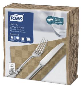 Tork Serviette de Table Gaufrée, Bistre