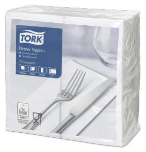 Tork Serviette Dinner, Blanc pliage 1/8