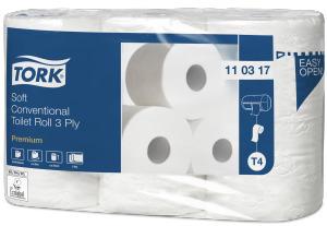 Tork miękki papier toaletowy w rolce konwencjonalnej, 3 warstwowy