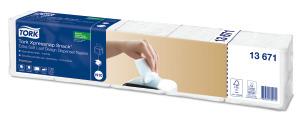 «Tork Xpressnap Snack®» īpaši mīksta balta dozatoru salvete ar lapas dizainu