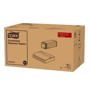 Tork Hvit Counterfold Dispenserserviett