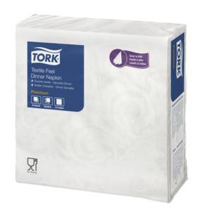Tork Textile Feel Elegance biela servítka-večera