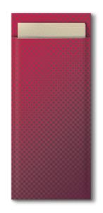 Tork burgundy kapsička na příbory s krémovýmubrouskem