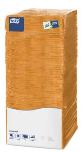 Tork салфетки 25х25 оранжевые
