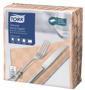 Tork Textured Dinnerserviette Apricot