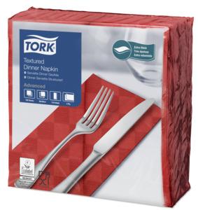Tork Tovagliolo Dinner goffrato rosso (piegato in 8)