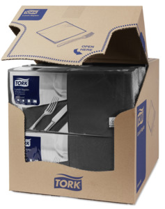 Tork Black Lunch Napkin