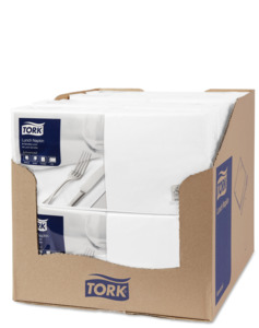 Tork White Lunch Napkin
