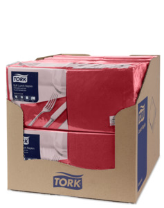 Tork Soft Lunchservietten Bordeauxrot