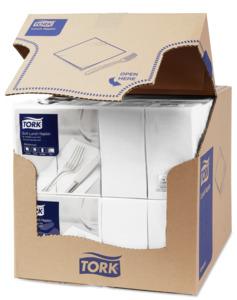 Tork Soft White Lunch Napkin 1/8 Folded