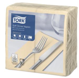 Tork Soft  Dinnerservietten Sand 1/8 Falz