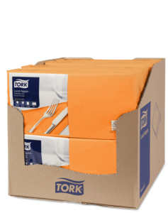 Tork Orange Lunch Napkin