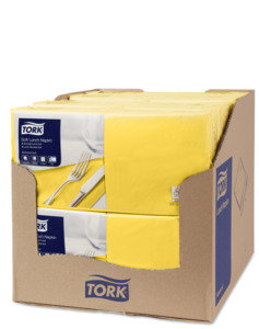 Tork Soft Yellow Lunch Napkin