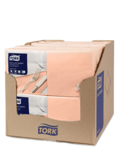 Tork Soft  Lunchservietten Apricot