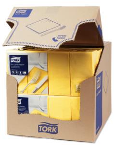 Tork Soft Lunchservietten Gelb 1/8-Falz