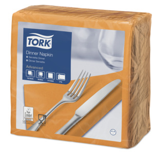 Tork Orange Middagsserviet