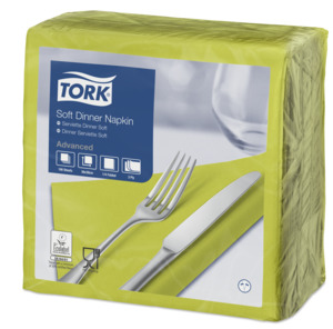 Tork Tovagliolo Dinner Soft lime