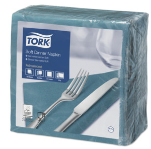 Tork Tovagliolo Dinner Soft turchese