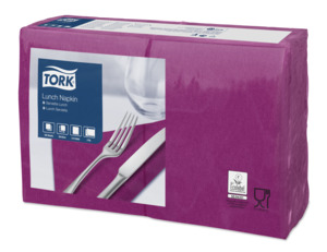 Tork Serviette Lunch, Aubergine