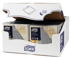 Tork LinStyle® Premium Dinnerservietten Grau