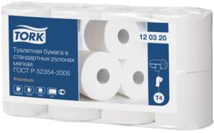 Tork туалетная бумага в стандартных рулончиках мягкая