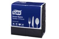 Tork®  Black Quilted Emboss 8 Fold  Dinner Napkin 2 Ply