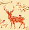 Tork Lunchservet Autumn Deer Terracotta
