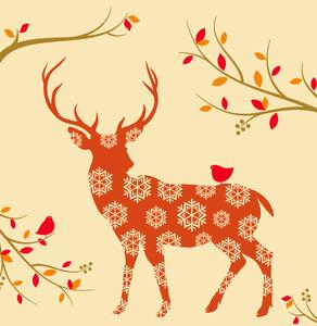 Tork Premium Textile Feel Dinerservet Autumn Deer Terracotta