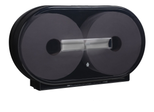 Tork Twin Jumbo Bath Tissue Roll Dispenser, Black