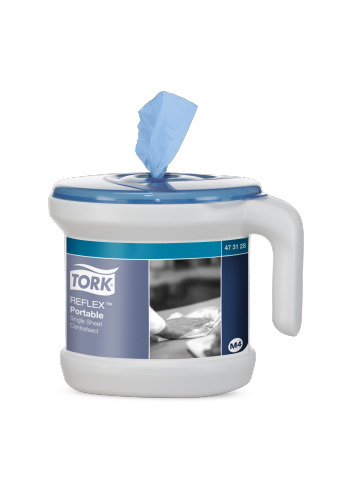 Tork Reflex Portable Starter Pack including blue roll