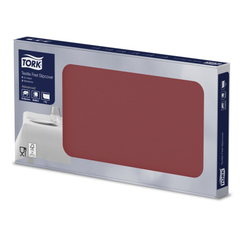 Tork Textile Feel tumepunast värvi lauakate