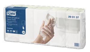 Tork Green Singlefold Hand Towel Universal C&C