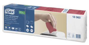 Tork Xpressnap® Extra Soft Bordeaux Dispenser Napkin