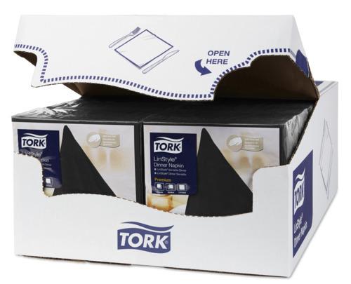 Servilleta para cena Tork Premium Linstyle® negra