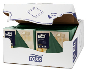 Tork Premium Linstyle® Moutain Pine Green Dinner Napkin