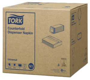 Tork Hvit Counterfold Dispenserserviett