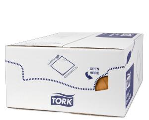 Servilleta para cena Tork Premium LinStyle® naranja