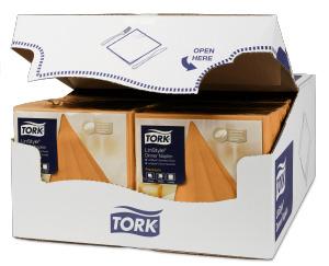 Tork Premium LinStyle® Tovagliolo Dinner arancione