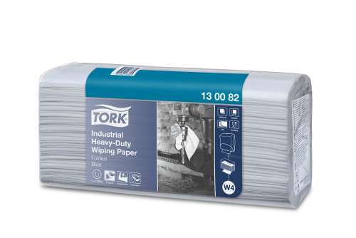 Tork®  Industrial Heavy-Duty Wiping Paper Folded