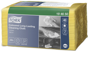 Tork Coloured Long-Lasting Cleaning Cloth, Yellow