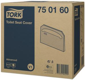 Tork индивидуальные бумажные покрытия на унитаз