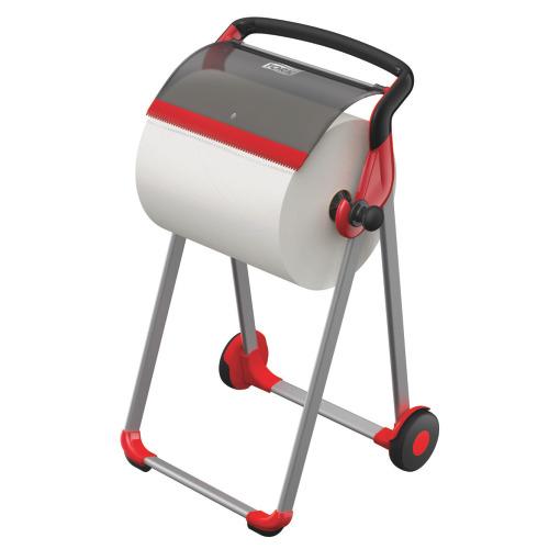 Despachador de Piso Tork para Paños en Rollo Rojo/Negro