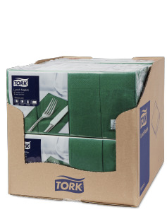 Tork Dark Green Lunch Napkin 1/8 Folded