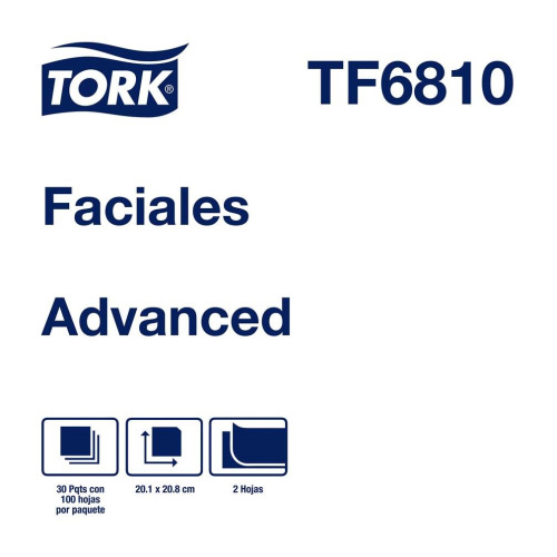 Tork Pañuelos Faciales Advanced  30 pq / 100 pz
