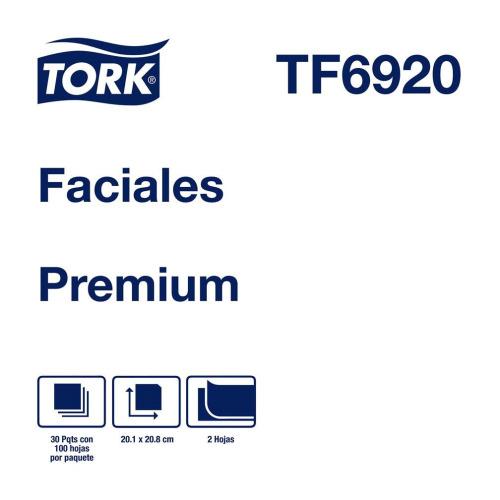 Tork Pañuelos Faciales Premium  30 pq / 100 pz