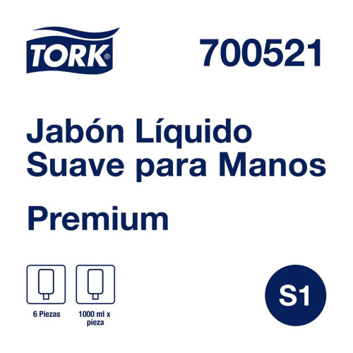 Tork Jabón Líquido Premium  6 pz / 1 lt