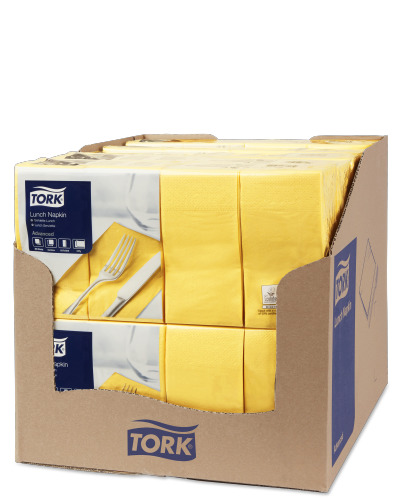 Tork Yellow Lunch Napkin 1/8 Folded